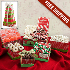 Holiday 6-Box Snack Tower Gift Set