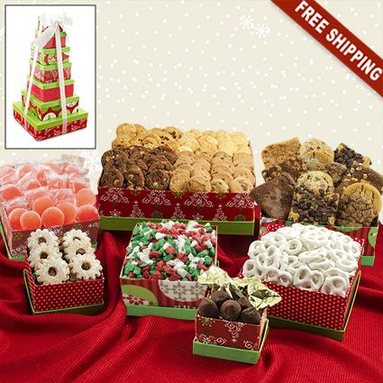 Holiday 7-Box Snack Tower Gift Set