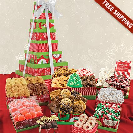 Holiday 9-Box Snack Tower Gift Set