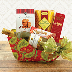 Holiday Sleigh Ride White Wine Gift Basket