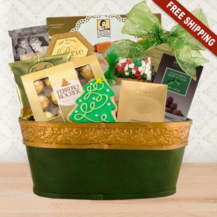 Holly Jolly Gourmet Gift Basket