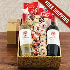 Holly Jolly Red & White Wine Gift Box