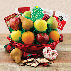 home for the holidays fruit gift basket