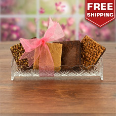 Hostess Crystal Platter With Brownies