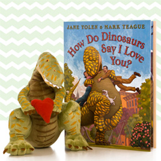 How Do Dinosaurs Say I Love You Doll & Hardcover Book