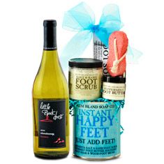 Instant Happy Feet Chardonnay White Wine Gift Collection