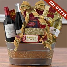 International Joy Triple Wine Gift Basket