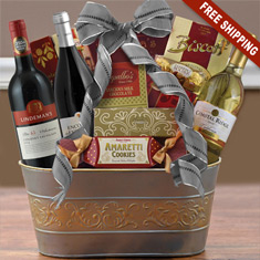 International Joy Triple Wine Basket