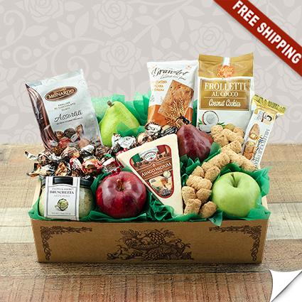 Italian Pride Of The Farm Fruit Gift Box & Italian Pride Of The Farm Fruit Gift Box-Capalbos Gift Baskets