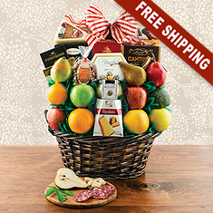 Italian Treasures Fruit Gift Basket