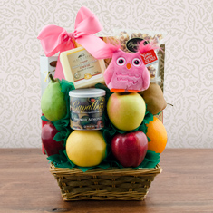 It's A Girl Fresh Fruit Gift Basket