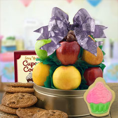 It's Your Birthday Cookie & Fresh Fruit Gift Basket