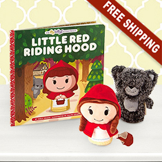Itty Bittys Little Red Riding Hood Book Plush Gift Set