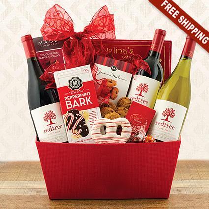 Joy to the World Triple Wine Basket