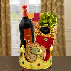 Royalty For A Day Red Wine Gift Basket