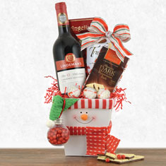 Let It Snowman Red Wine Gift Box