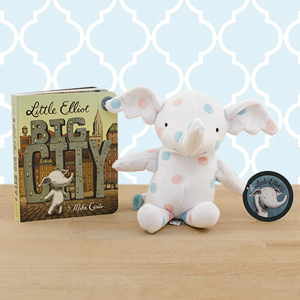 Little Elliot Big City Doll & Board Book Gift Set