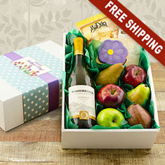 Mother's Day White Wine & Fruit Gift Box