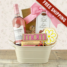 Mother's Day White Zinfandel Gift Basket