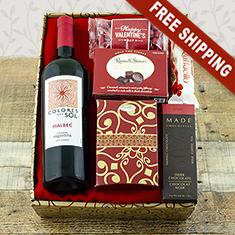Valentine's Malbec & Chocolate Gift Box