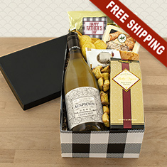 Man Of The Hour White Wine Gift Box