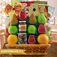 Masada Fruit & Kosher Food Gift Basket