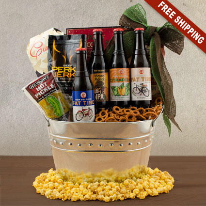 New Belgium Beer Gift Basket