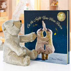 On The Night You Were Born Polar Bear Doll & Hardcover Book Gift Set