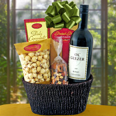 Ol' Geezer Red Wine Gift Basket