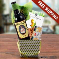 Old Fart Red Wine Gift Basket