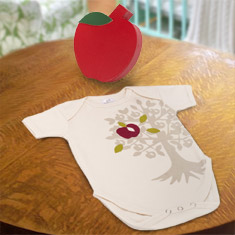Organic Apple Bodysuit in Gift Box
