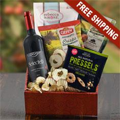Cabernet Sauvignon Wine & Snax Gift Box