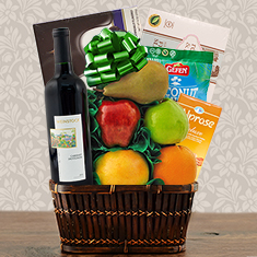 Passover Cabernet, Chocolate & Fresh Fruit Gift Basket