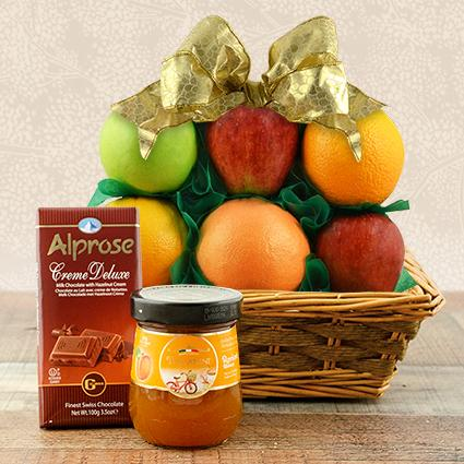 Passover Fruit & Milk Chocolate Gift Basket