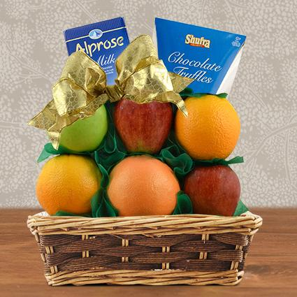 Passover Fruit & Milk Chocolate Gift Basket