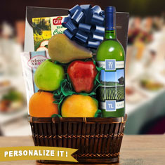 Passover Moscato, Chocolate & Fresh Fruit Gift Basket