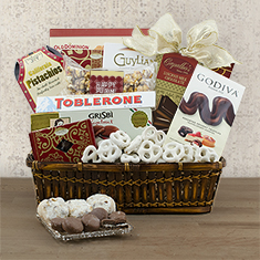 Purim Party Time Gourmet Gift Basket