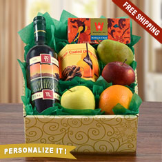 Red Moscato, Fruit & Snax Gift Box
