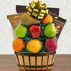 Passover Truffles & Fresh Fruit Gift Basket