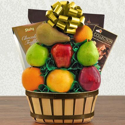 Passover Truffles & Fresh Fruit Gift Basket