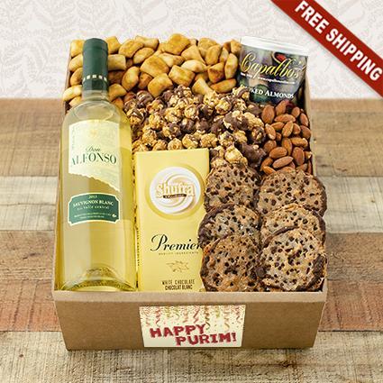 Purim White Wine Party Gift Box