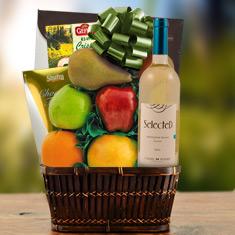 Passover Sauv Blanc, Truffles & Fresh Fruit Gift Basket