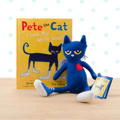 Pete The Cat I Love My White Shoes Doll Hardcover Book