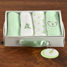 Piccolo Spa Deluxe Baby Washcloths