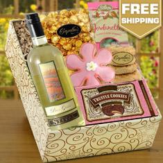 Pinot Grigio White Wine & Gourmet Gift Box