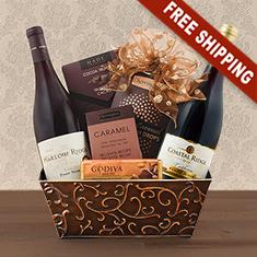 California Pinot Noir Duo Wine Gift Basket