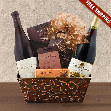 California Pinot Noir Duo Wine Gift Basket