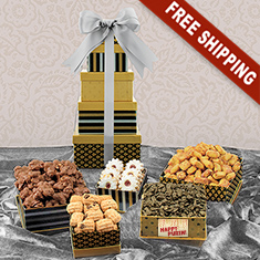 Purim 5-Box Snack Tower Gift Set