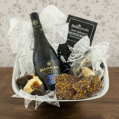 Purim Elegance Red Wine Gift Basket