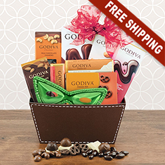 Purim Godiva Chocolate Bliss Gift Basket